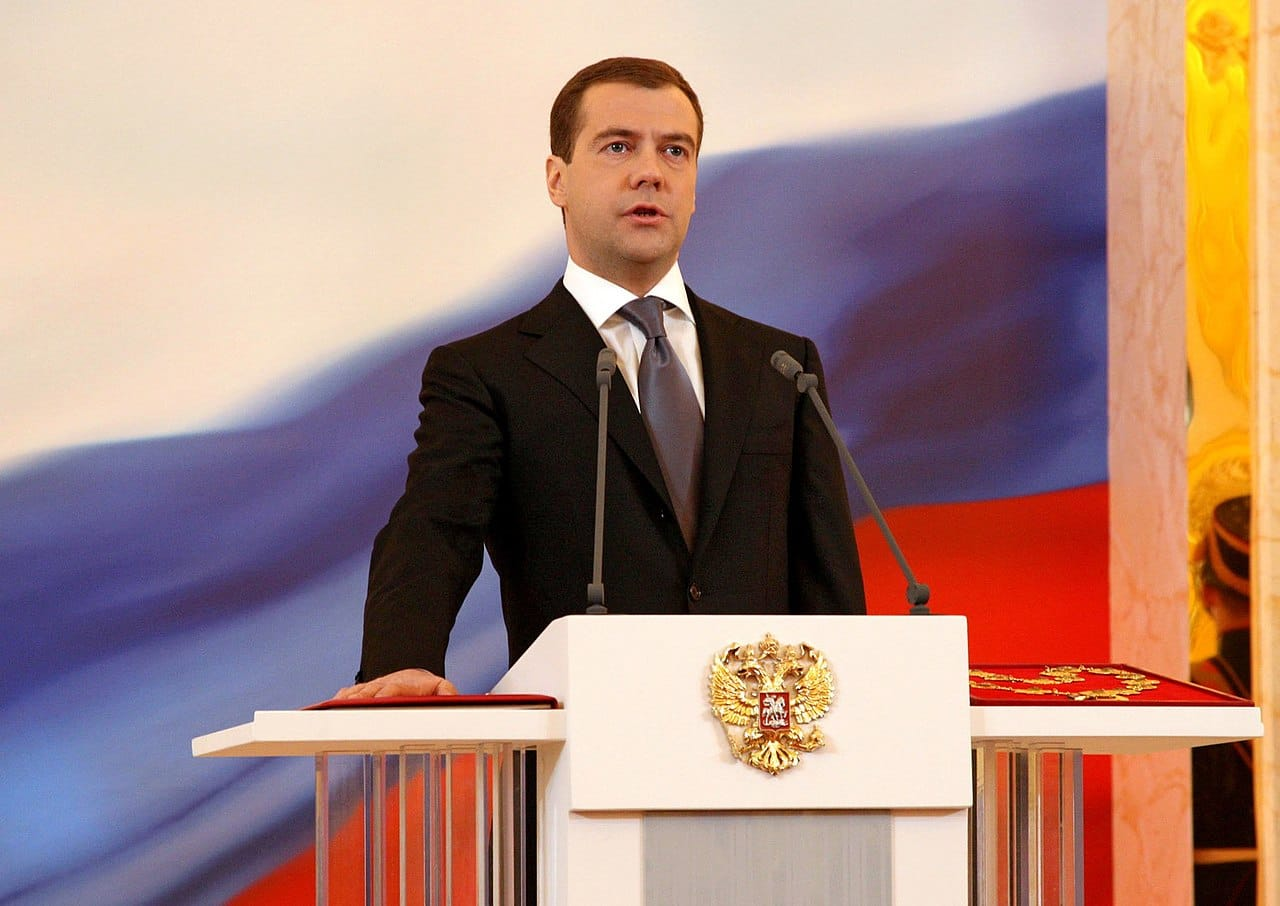 Dmitri Medvedev is elected president of Russia